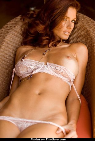Jaime Edmondson - Awesome Naked Playboy Red Hair in Lingerie (Hd Sexual Pic)