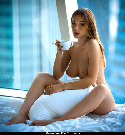 Olga Kobzar - Lovely Russian Female with Lovely Open Real Med Boobies (Sexual Image)