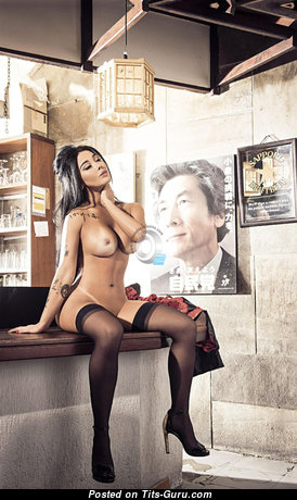 Natalia Inoue - Elegant Brunette Wife & Babe with Elegant Open Dd Size Knockers (Hd Porn Picture)