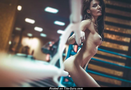 Image. Mira Sheiner - sexy naked asian brunette with big fake tits photo