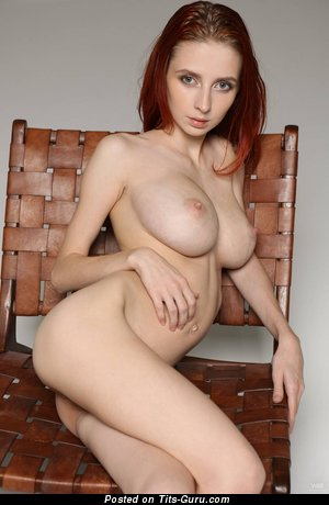 Helga Grey - Stunning Ukrainian Red Hair Babe with Stunning Open Dd Size Jugs (Sex Picture)
