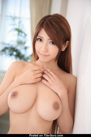 Lovely Asian Babe with Lovely Defenseless Natural Medium Melons (Porn Picture)