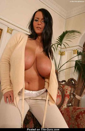 Bea Flora - Alluring Polish Brunette with Alluring Bare Natural Sizable Tittys (Xxx Pic)
