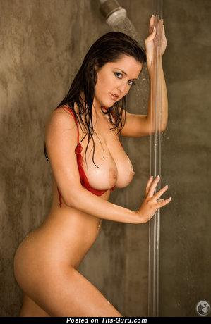 Mandy Calloway - Grand American Playboy Brunette Babe with Grand Bald Medium Sized Jugs (Hd Sex Pix)