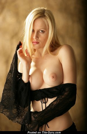 Image. Naked blonde with medium natural tittys pic