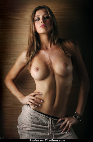Image. Naked beautiful girl with medium natural tittys pic