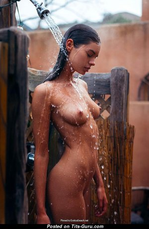 Stunning Undressed Brunette in the Shower (Hd Sexual Picture)