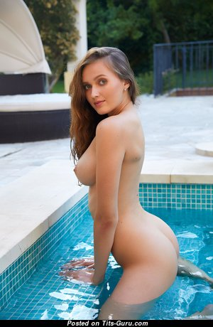 Stacy Cruz - Adorable Brunette with Adorable Open Real Tittys in the Pool (4k 18+ Image)