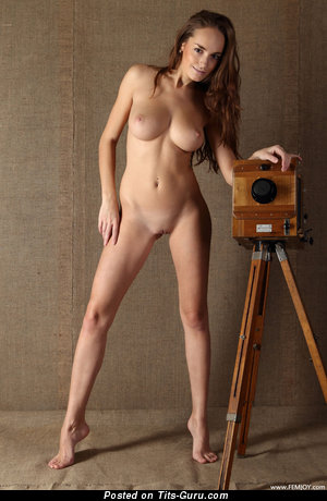 Image. Anabelle Rona - sexy topless amazing woman with medium natural tittys pic
