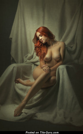 Image. Sexy naked red hair with natural boob pic