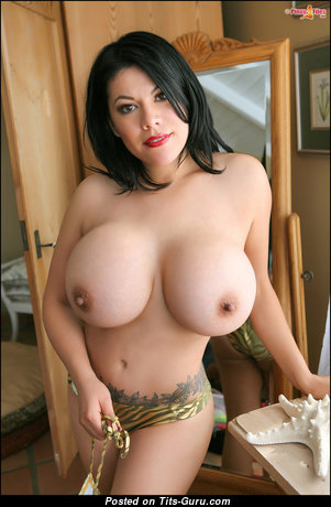 Ana Rica - Lovely Glamour Mexican Brunette with Lovely Open Silicone H Size Breasts & Tattoo (18+ Pix)