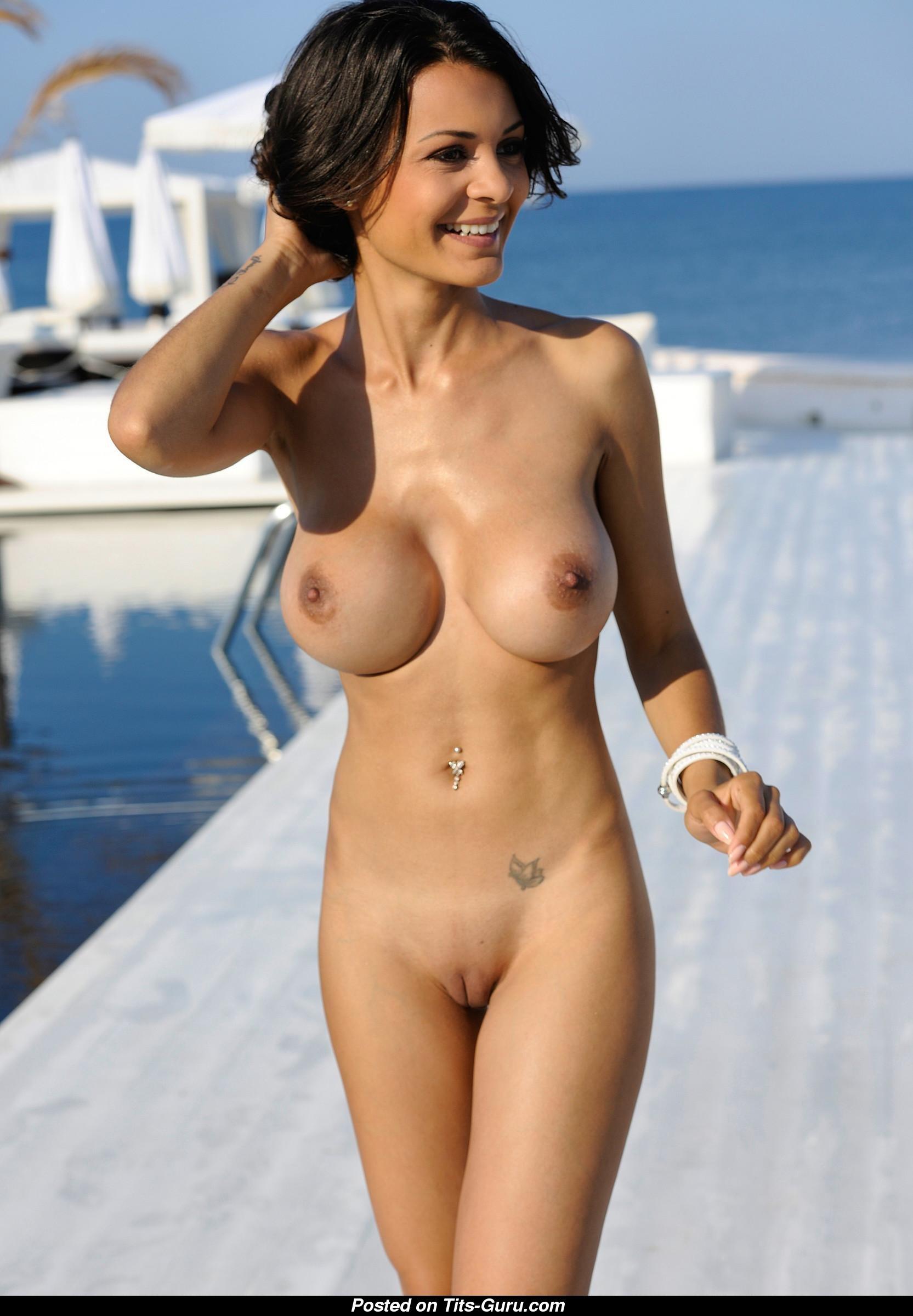 Joana Plankl - Brunette With Bare Fake Average Breasts -8036