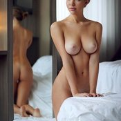 Sexy naked awesome female with natural boobies pic