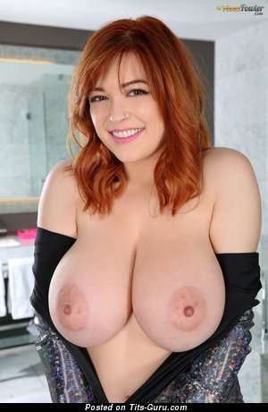 Tessa Fowler - sexy topless red hair with huge natural breast and big nipples pic