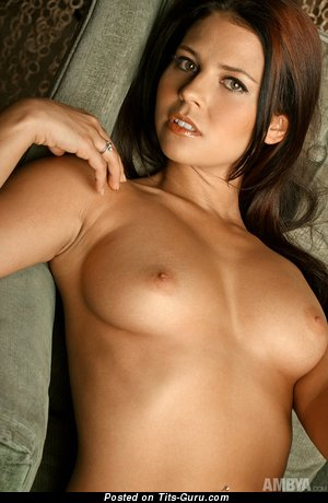Image. Cali Logan - naked brunette with medium natural boobs image