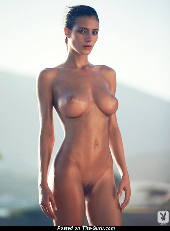 Alejandra Guilmant - sexy nude latina brunette with big breast and big nipples image