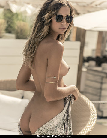 Image. Topless hot girl with medium breast photo