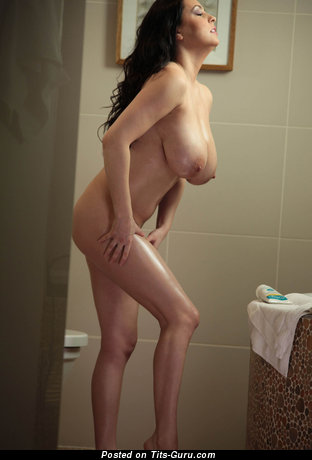 Image. Ewa Sonnet - nude brunette with huge natural tittes photo