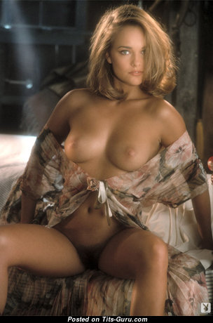 Echo Johnson - Appealing Topless Blonde Pornstar with Appealing Bare Real The Smallest Titty (Vintage Xxx Picture)