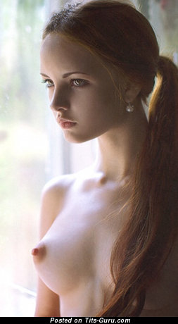 Image. Nude awesome lady with small natural breast photo