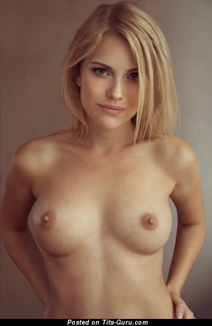 Amazing Topless Blonde Babe with Amazing Defenseless Natural Mini Boobies (Sex Pic)