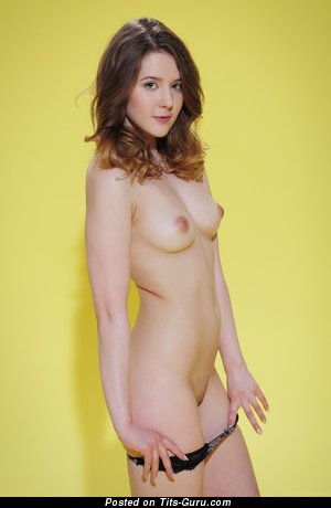 Image. Nude red hair with medium natural tittes photo