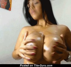 Image. Naked wonderful girl with huge fake breast gif