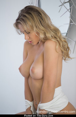 Image. Candice Brielle - sexy naked blonde with medium natural boob image