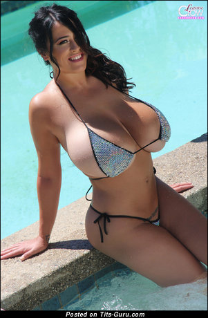 Image. Leanne Crow - naked brunette with huge natural boob picture