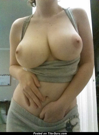 Pleasing Topless Moll with Pleasing Naked Natural Titties (Amateur Xxx Picture)