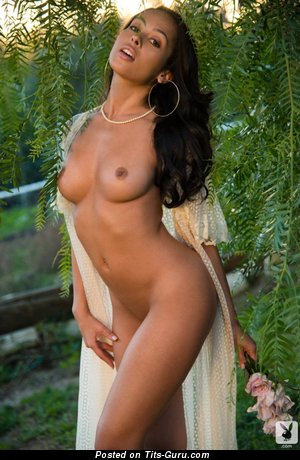 Image. Nude amazing female with natural breast pic