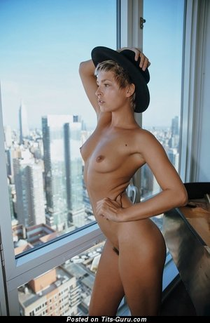 Sexy naked hot female with small natural boobies photo