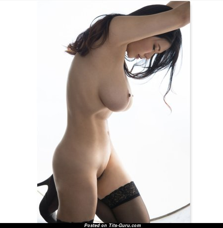 Anri Okita - Sweet Topless Japanese, British Brunette Pornstar & Babe with Sweet Exposed Natural Medium Sized Tittys (Hd Xxx Pic)
