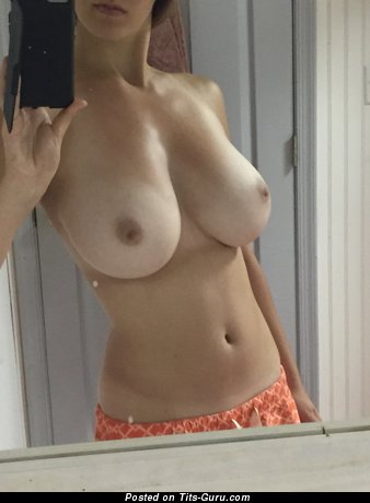Image. Amateur - topless amateur nice female with medium natural tots selfie