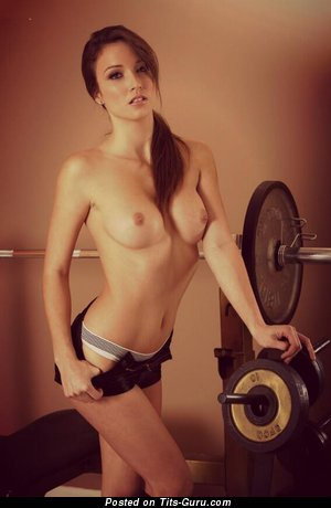 Malena Morgan - Cute American Red Hair with Cute Open Average Titties & Tattoo is Doing Fitness (Sex Photoshoot)