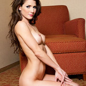 Jenni Lee - brunette with medium natural breast image