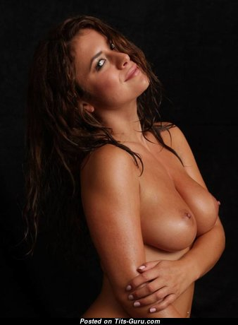 Pretty Topless Brunette Babe (Sexual Image)