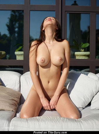 Alisa - naked brunette with medium natural tits picture