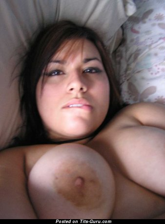 Fascinating Brunette with Fascinating Bare Big Boob (Home Hd 18+ Pic)