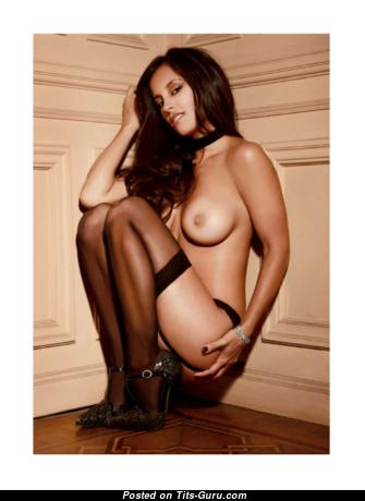 Lourdes Sanchez - Superb Undressed Argentine Playboy Brunette in Lingerie (18+ Image)
