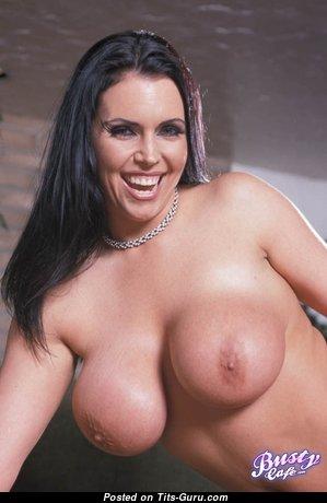 Angelica Sinn - Splendid Glamour & Topless Brunette Pornstar with Weird Nipples (Sexual Wallpaper)