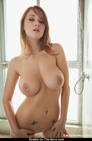 Alluring Babe with Alluring Bald Natural Average Knockers (Sexual Image)