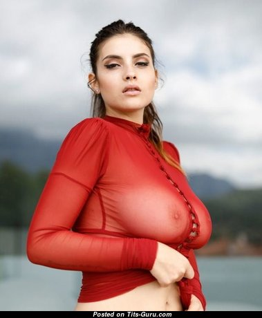 Dazzling Babe with Dazzling Defenseless Natural Medium Boobies (Sex Photo)