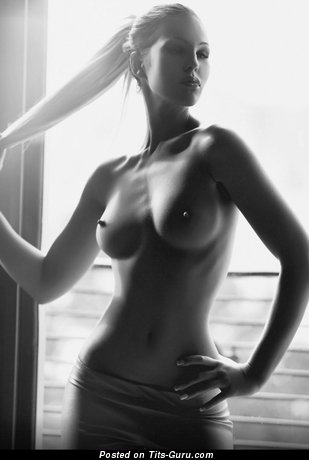 Image. Sexy nude blonde with big natural tittys and big nipples pic