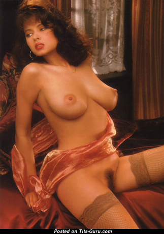 Angela Melini - Elegant Topless Vietnamese, American Playboy Red Hair with Elegant Defenseless Real Normal Tit (Vintage Sexual Image)