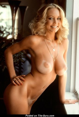 Kym Malin - Beautiful Topless American Playboy Blonde Babe with Beautiful Naked Real D Size Boobies & Tan Lines (18+ Photoshoot)