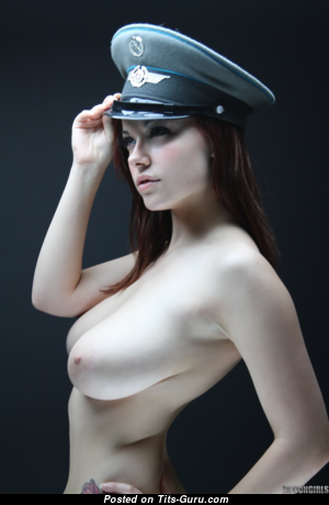 Elizabeth - Handsome Topless Red Hair with Handsome Naked Real D Size Busts (Hd Sex Photoshoot)