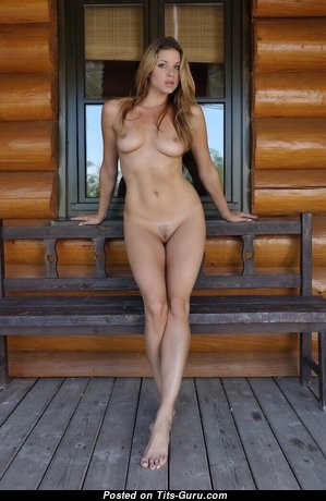Lovely Babe with Lovely Exposed Real Medium Knockers & Huge Nipples (Sexual Wallpaper)