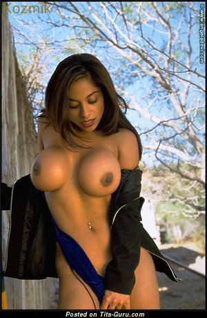 Angela Devi - Superb Indian, American Dame with Perfect Nude Silicone Great Boobie (18+ Photo)