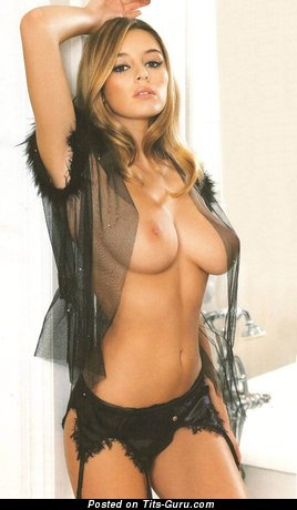 Image. Keeley Hazell - sexy nude brunette with medium natural boob picture